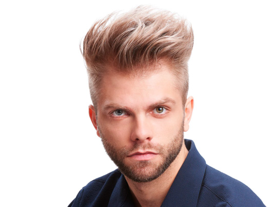 Textured Quiff Mohawk Haircut