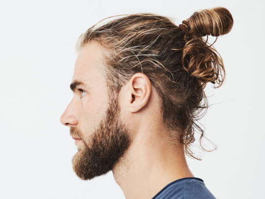 Samurai Haircut (aka. Top Knot or Man Bun)