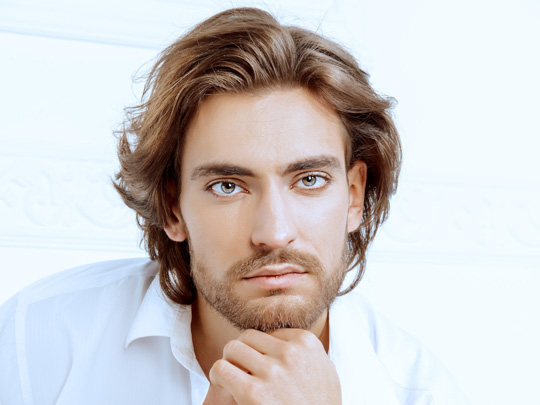 Long Hairstyle for Men & Beard