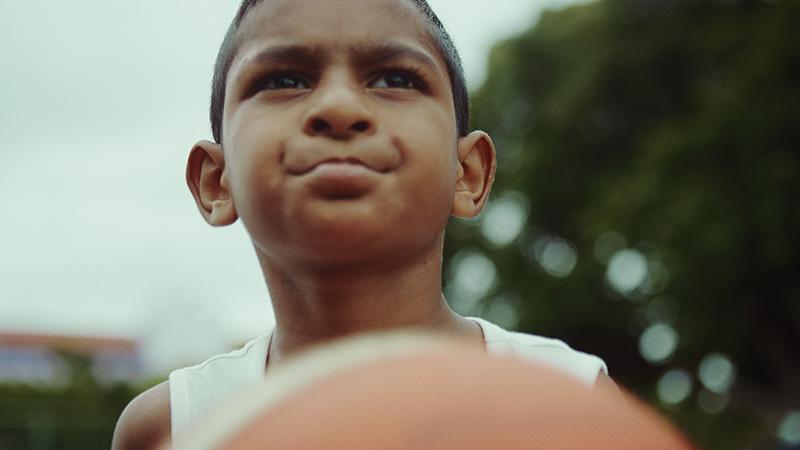 Kid Shooting a basketball