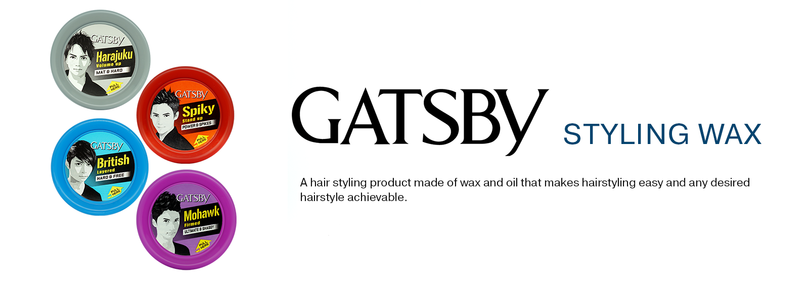 GATSBY Styling Wax Banner